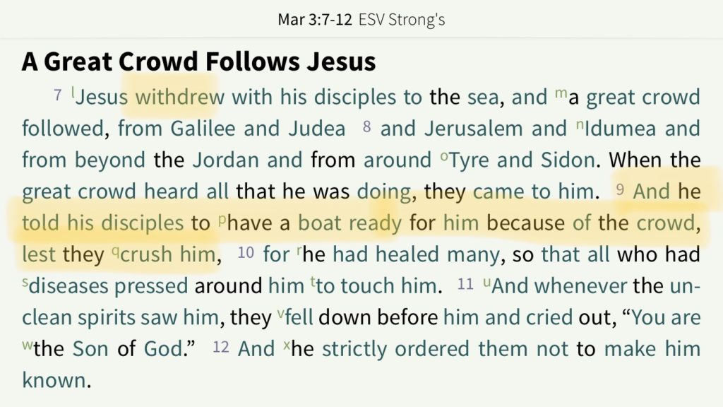 Screenshot of Mark 3:7-12